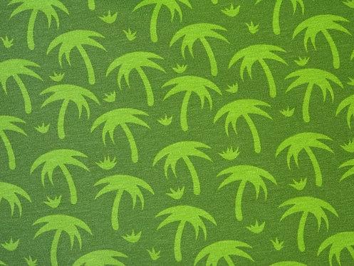 Palmen hellgrün oliv Jersey Baumwolljersey Meterware