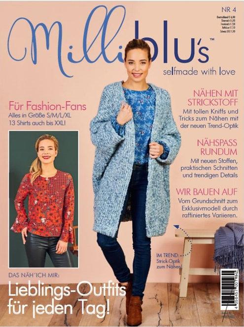 Milliblu´s Schnittmuster Zeitung Damen Gr. S / M / L / XL + 13 Shirts bis XXL