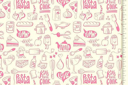 Küche rosa creme Hamburger Liebe Organic Baumwolle Meterwa