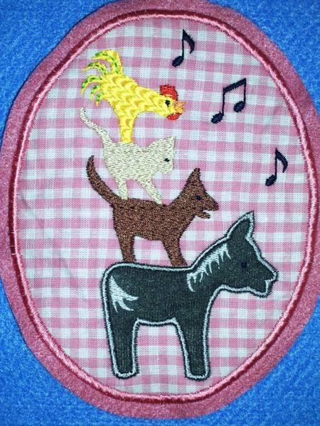 die Bremer Sänger Button Aufnäher rosa