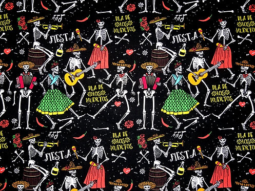 Skull Musik Instrumente Mexiko Totenkopf Baumwolle