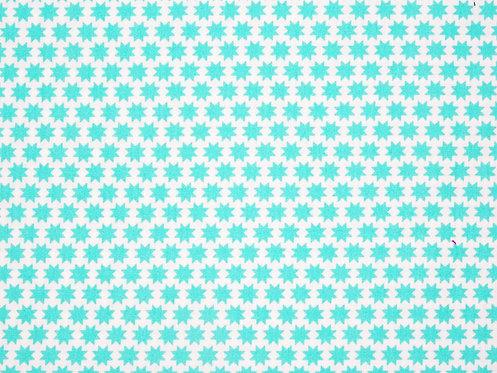 Sterne mint auf weiß Baumwolle Meterware