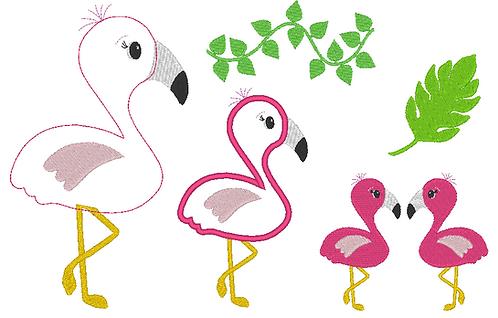 Flamingo Stickdatei