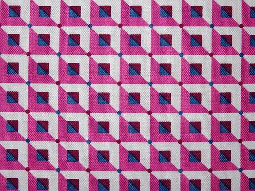 Karo pink weiß Tante Ema Baumwolle