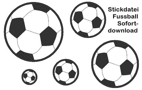 Fussball Stickdatei
