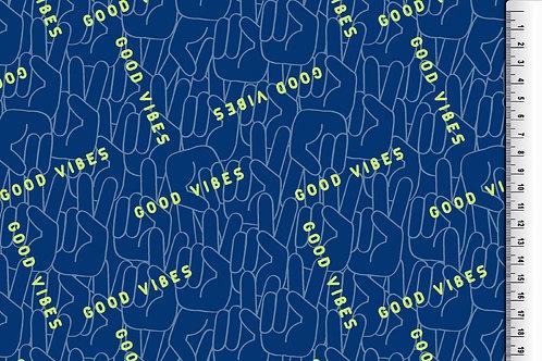 Softshell für Jungs blau gelb Meterware Winddicht