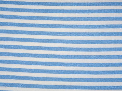 Jersey Streifen weiß hellblau 7mm Meterware