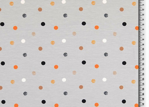 Organic Jersey Punkte Topfen Dots Baumwolljersey Meterware zartbunt Bio