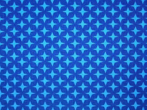 Feincord Cord Sterne türkis blau BW Meterware