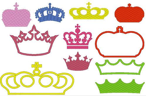Stickdatei Kronen 2.0 Krone Prinzessin