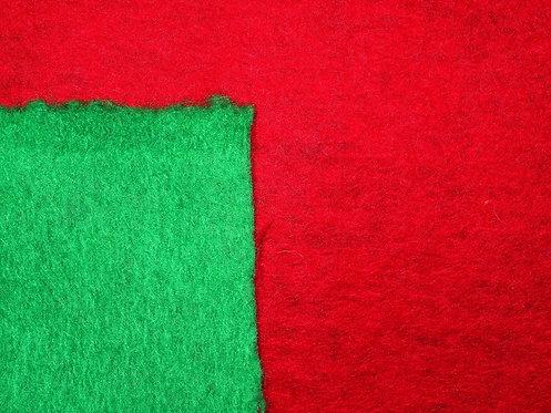 Wolle Walkloden Doubleface grün rot Wollstoff Meterware