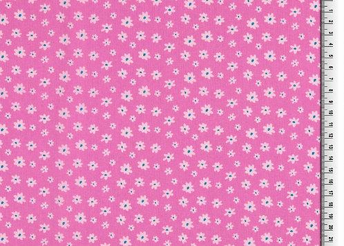 Blumen auf flieder / pink Baumwolle Meterware
