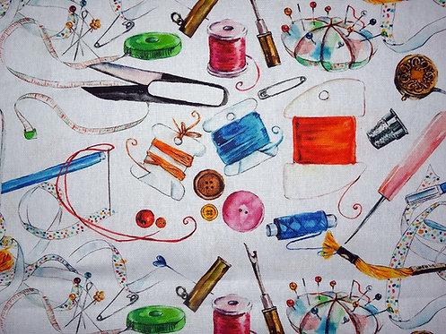 Canvas Nähzubehör Garn Nadeln Maßband Fingerhut Nähen 100 % Baumwolle Meterware