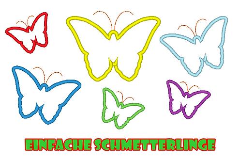 einfacher Schmetterling Stickdatei zum PROBIERPREIS