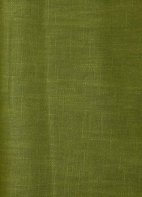Leinen uni moosgrün grün Webware einfarbig Meterware Leinen