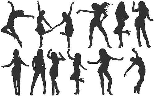 Tanz Dancing 1.0 Silhouette Stickdatei