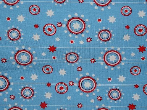 Sterne Tante Ema auf hellblau Jersey Baumwolljersey