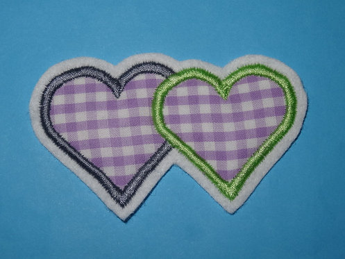 2 Herzen in Wunschfarbe
