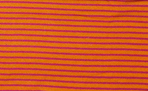 Campan Jersey Streifen orange pink Meterware gestreift Ringel