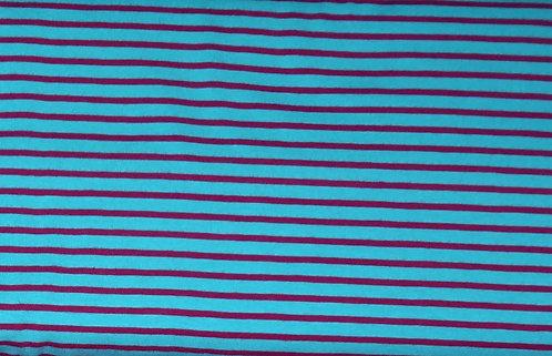 Campan Jersey Streifen türkis dunkelpink Meterware gestreift Ringel