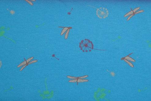 Jersey Libelle Pusteblumen mit Duft blau