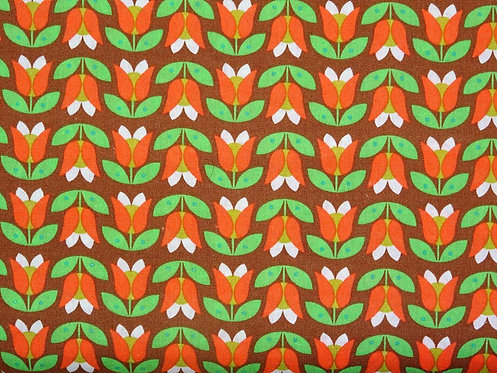 Tulpen Blumen Retro Baumwolle Meterware Baumwollstoff