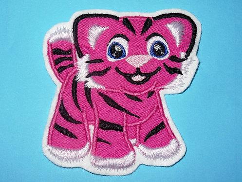 Tiger in pink Aufnäher