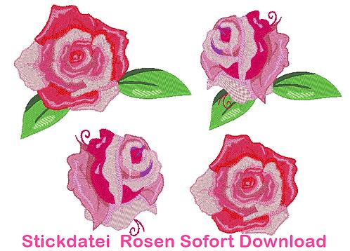 Stickdatei Rosen Rose Hochzeit