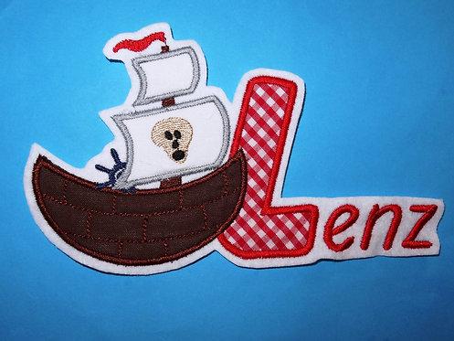 Piratenschiff mit Name
