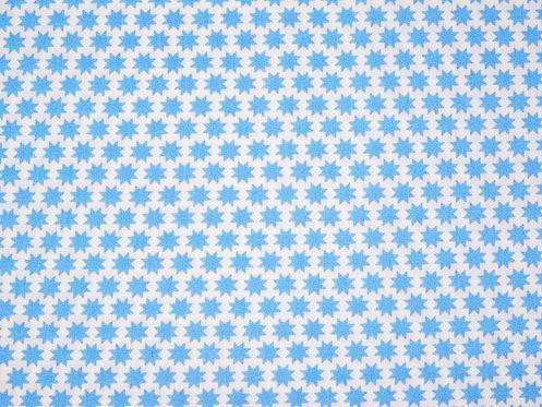 Sterne blau auf weiß Baumwolle Meterware