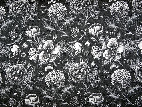 Pflanzen Blumen schwarz weiß grau French Terry Fräulein von Julie