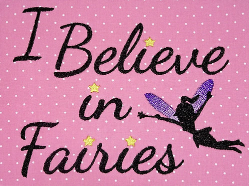 Stickdatei Fee Elfe I believe in Fairies