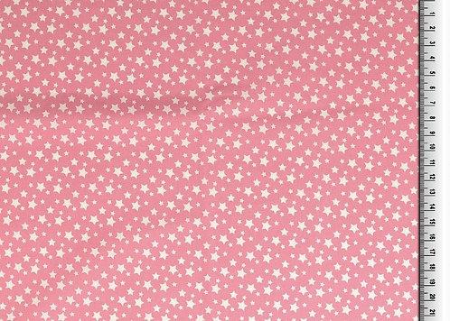 kleine Sterne weiß auf rosa altrosa Baumwolle Meterware