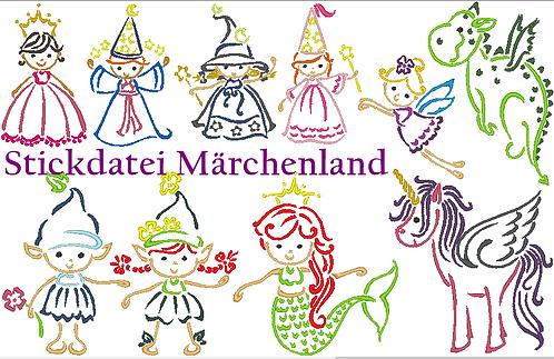 Märchenland Stickdatei