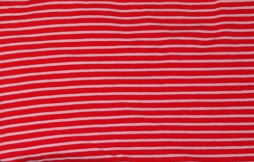 Campan Jersey Streifen rot hellrosa Meterware gestreift Ringel