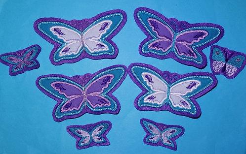 Schmetterling Aufnäher Applikation