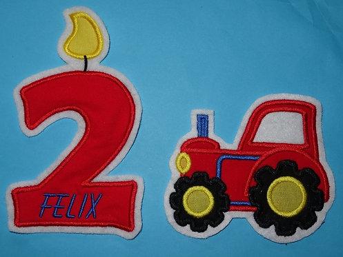 Wunschzahl mit Name und Traktor