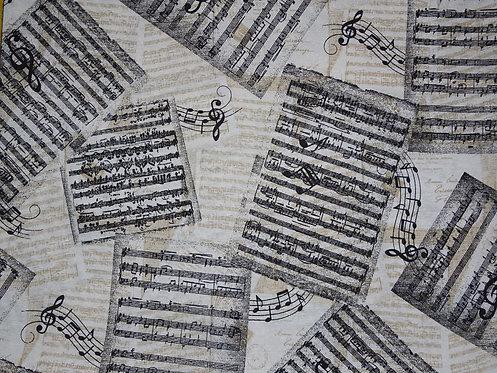 Canvas Musik Noten Notenblätter Baumwolle