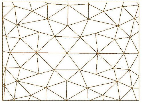 Cover Fullcover Grafik Design Dreieck Stickdatei