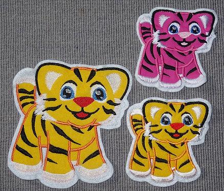 Tiger Aufnäher Applikation Handmade Patch
