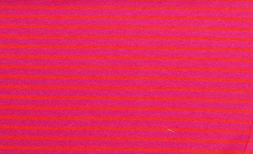 Campan Jersey Streifen pink orange Meterware gestreift Ringel