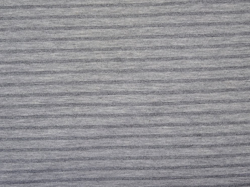 Jersey Streifen hellgrau grau meliert  Meterware gestreift Ringel