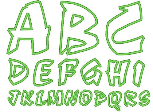 Buchstaben Stickdatei Alphabet 3 5 7 10 cm