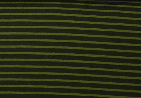 Campan Jersey Streifen dunkeloliv oliv Meterware gestreift Ringel