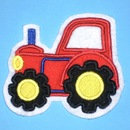 Traktor Aufnäher rot