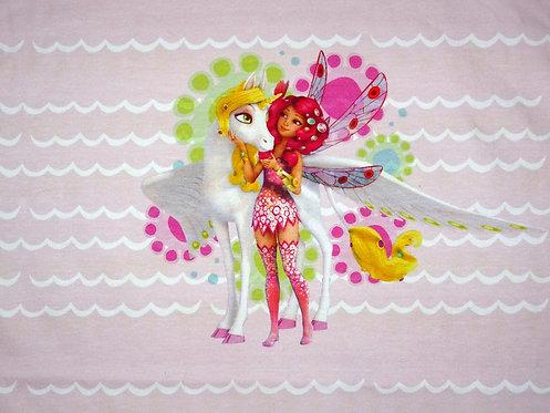 Mia and me Fee Einhorn rosa hellgrün Jersey Panel Baumwolle Meterware