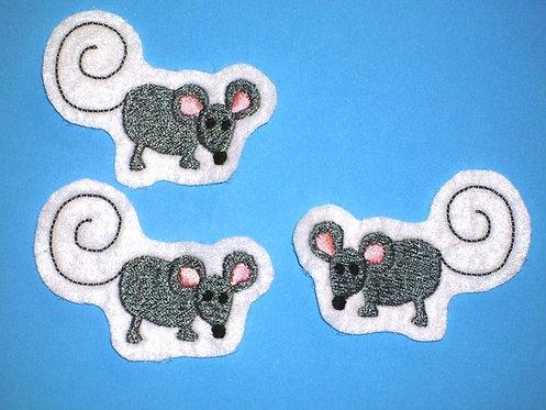 Maus Aufnäher 3 !!! süße Mäuschen