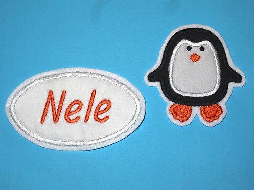 Pinguin mit Namesbutton