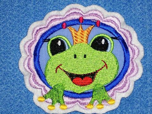 Frosch Button Aufnäher