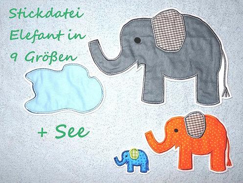 Elefant Stickdatei